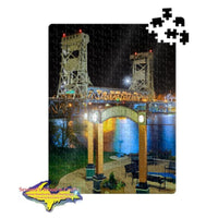Michigan Jigsaw Puzzle Bridge View Park Houghton Houghton Keweenaw Peninsula Gifts