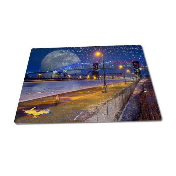 252 Jigsaw Puzzle Full Moon West Pier Composite Art Sault Ste. Marie, Michigan Gifts & Collectibles