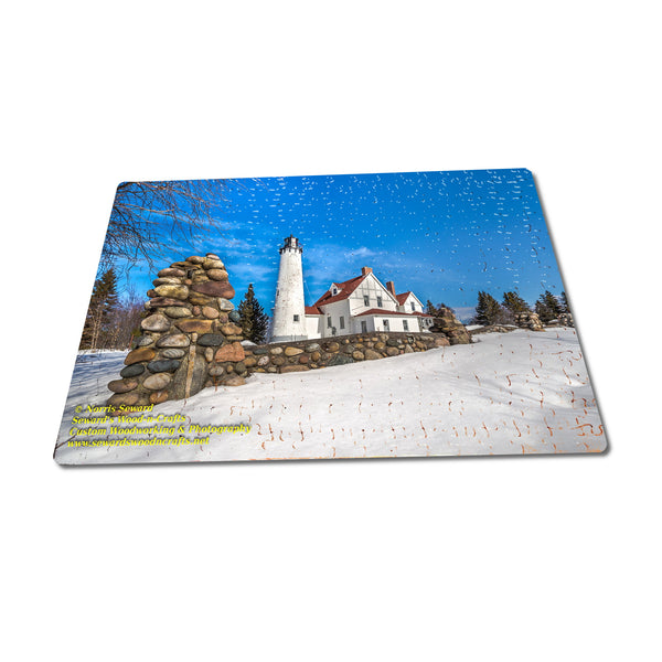 Beautiful Winter Scene Point Iroquois Lighthouse Jigsaw Puzzle Fun For The Whole Family
