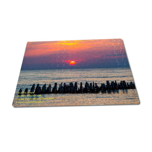 Fun Michigan Made Puzzles Lake Superior Sunset 252 Piece Jigsaw Puzzle