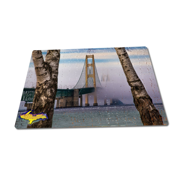 Michigan Puzzle 252 pc Fog Over Mackinac Bridge Michigan Made Photography Gifts & Collectibles
