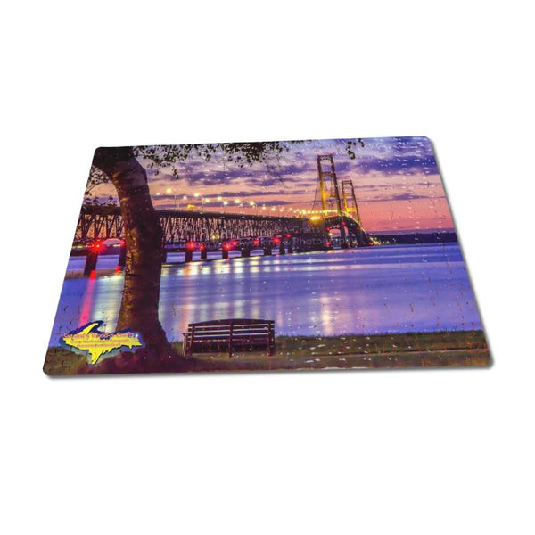 Michigan Puzzles 252 pc Mackinac Bridge Sunset Michigan Landscape Photography