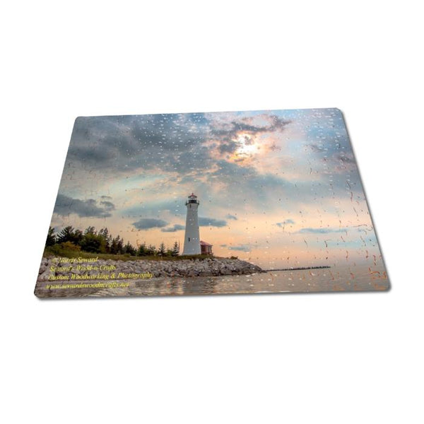 Michigan Puzzles 252 Piece Crisp Point Lighthouse Jigsaw Puzzle Gift & Collectibles