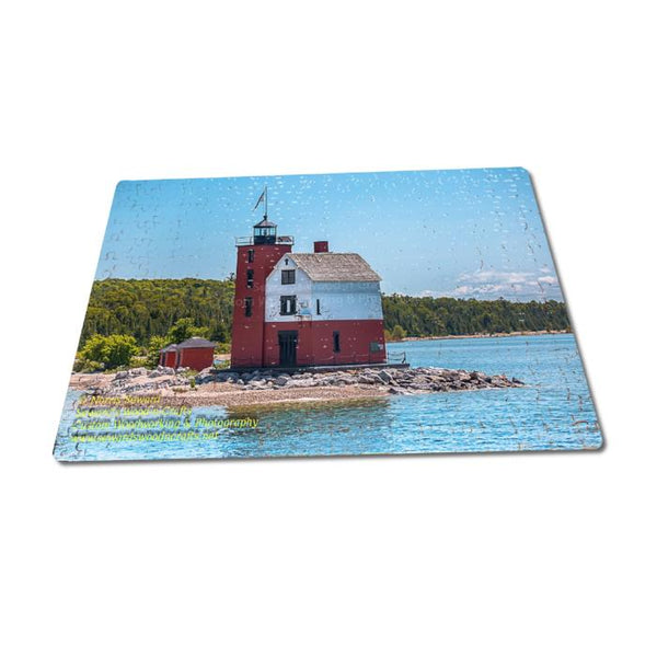 Michigan Puzzle 252 Piece Round Island Lighthouse Jigsaw Puzzles For Sale