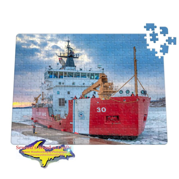 Great Lakes Jigsaw Puzzles  United States Coast Guard Cutter Mackinaw Soo Locks