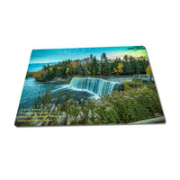 Michigan Puzzle 252 Piece Upper Tahquamenon Falls Autumn Sunset