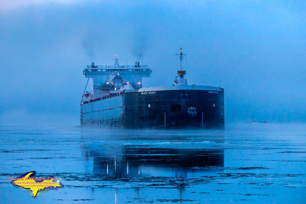 Great Lakes Freighters American Integrity Photos For Home Office Decor