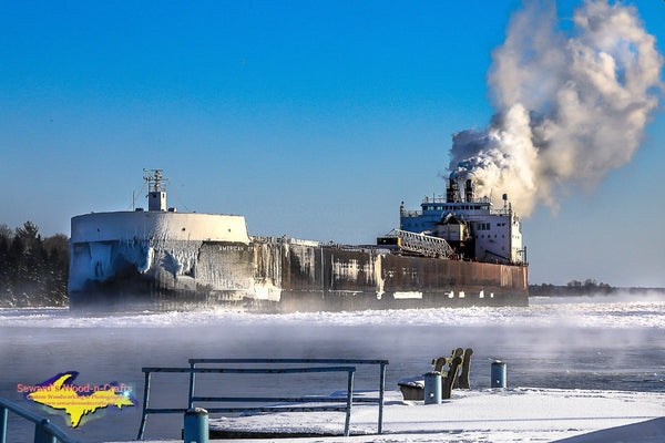 Great Lakes Freighter American Spirit Photo American Steam Ship Images For Sale