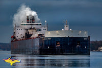 Great Lakes Freighter photography American Spirit Photo Home Office Decor
