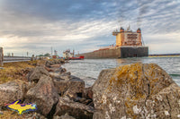 Great Lakes Freighters Photography Burns Harbor and the Sugar Islander II at Mission Point Sault Michigan