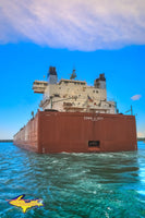Great Lakes Freighters Close-up of the Edwin H Gott. Photos, canvas, metal, prints