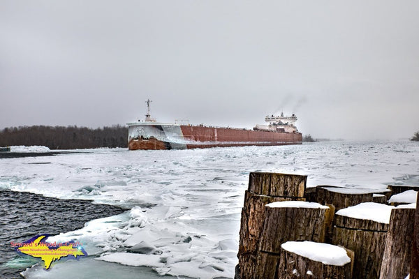 Great Lake Freighters Photography Edwin H.Gott Winter Photo