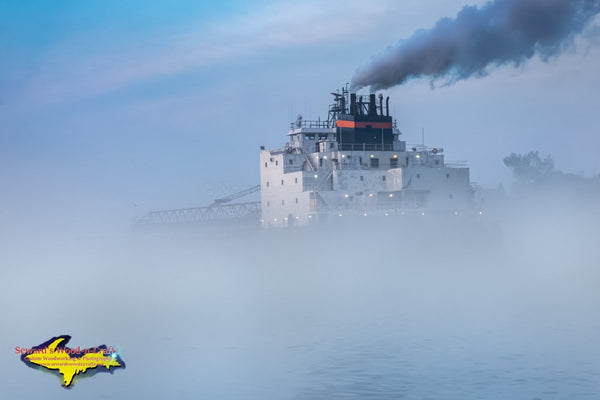 Great Lakes Freighters Photography James R Barker Foggy In The Fog