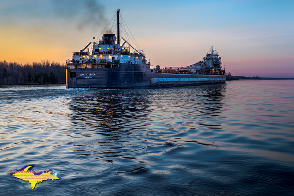 Great Lakes Freighters Photography John D. Leitch with a Beautiful Downbound Marie, Michigan Photos