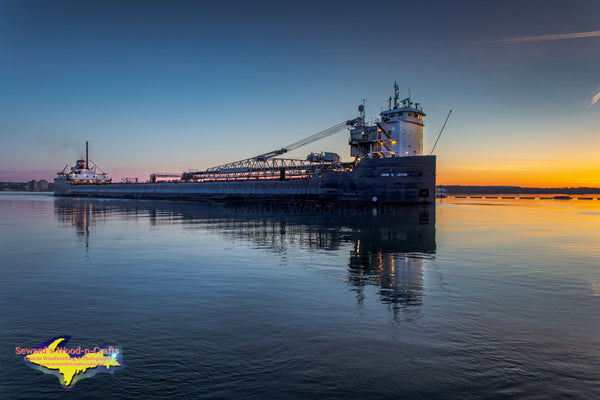 Great Lakes Freighters Photography John D. Leitch with a Beautiful Sunrise Marie, Michigan. Photos