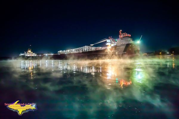 John G. Munson Winter Reflection Photo Great Lakes Freighter Images For Boat Fans
