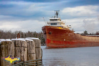 Great Lakes Freighters Lee A Tregurtha Coming Up On Mission Point Sault Michigan. Photos