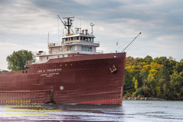 Great Lakes Freighters Photo Lee A Tregurtha Autumn Color Image For Sale