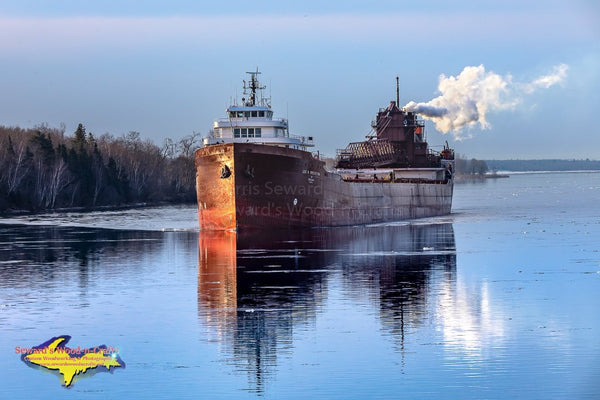 Great Lakes Freighters Lee Tregurtha approaching Mission Point Sault Ste. Marie, Michigan Photography