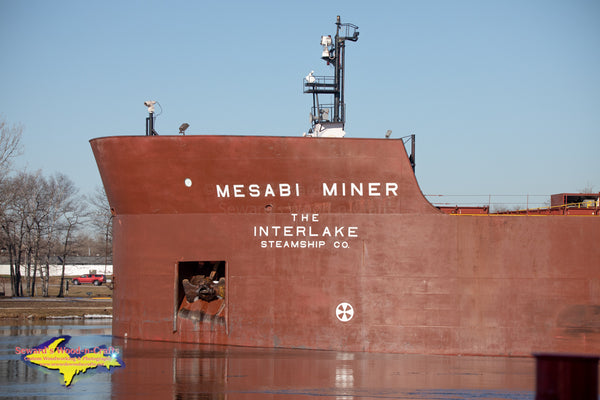 Great Lakes Freighters Photography Mesabi Miner at Rotary Park Sault Ste. Marie, Michigan. Photos