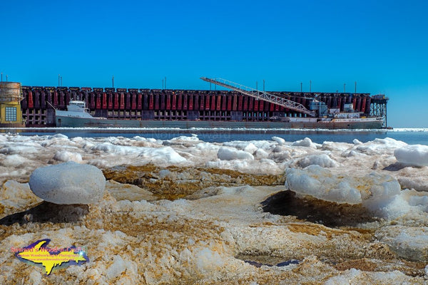 Great Lake Freighters Michipicoten Marquette Ore Dock Michigan landscape Photography