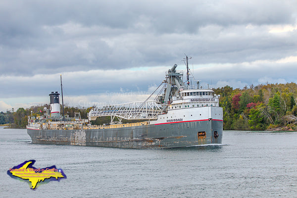 Michigan Photography Great Lakes Freighter Mississagi Autumn Colors