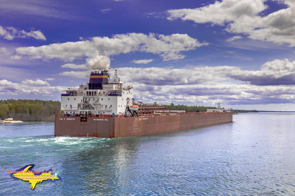 Great Lakes Freighters Photography Paul R Tregurtha in the St. Mary's River