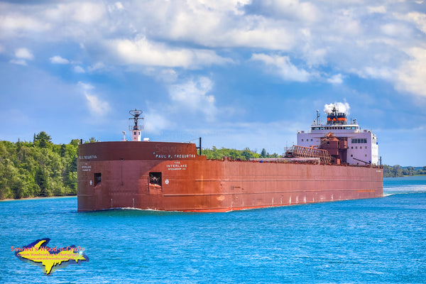 Great Lakes Freighters Paul R. Tregurtha Comming Up Little Rapids Cut Sault Ste. Marie, Michigan