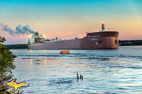 Great Lakes Freighters Paul R. Tregurtha Comming Around Mission Point Sault Michigan