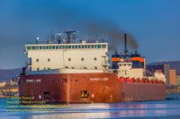 Great Lakes Freighter Stewart J. Cort 1st through the Soo Locks 2019 and 1st thousand footer on the great lakes