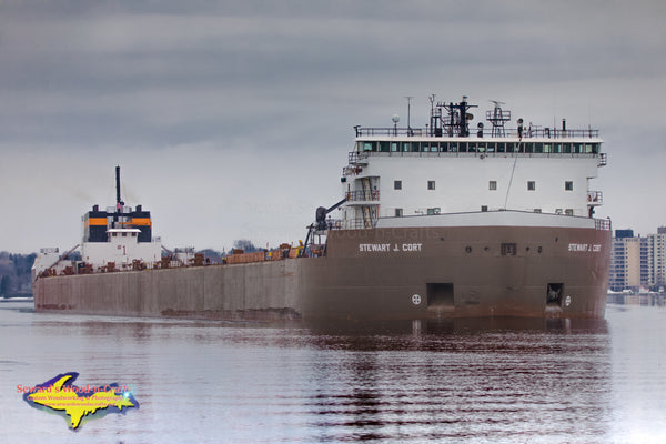 Great Lakes Freighters Photography Stewart J. Cort at Mission Point Artwork