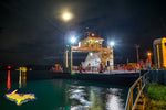 Sugar Island Ferry in da moonlight Sault Ste. Marie, Michigan