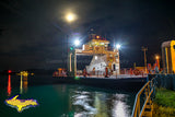 Sugar Island Ferry in da moonlight Sault Ste. Marie, Michigan Photos