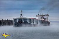 Great Lake Freighters Photos ~ Walter J. McCarthy Jr Winter Scene -2767