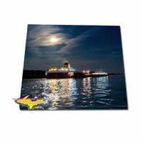 Great Lake Freighter Roger Blough On A Square Canvas Print