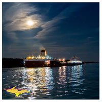 Great Lake Freighter Photos Roger Blough In The Moonlight Image