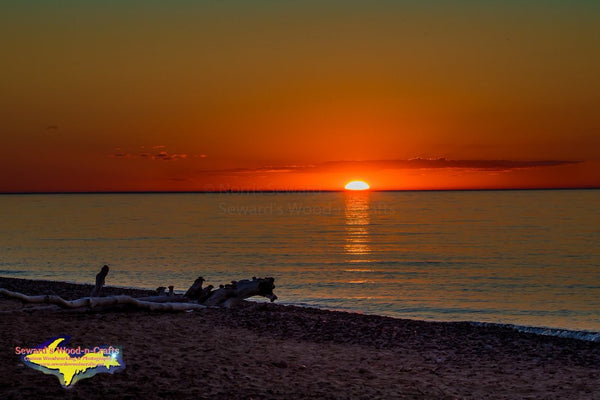 Sunset Lake Superior Michigan Royalty Free Stock Images