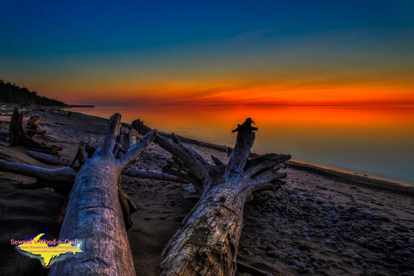 Michigan Landscape Photography Lake Superior Sunset Grand Marais, Michigan