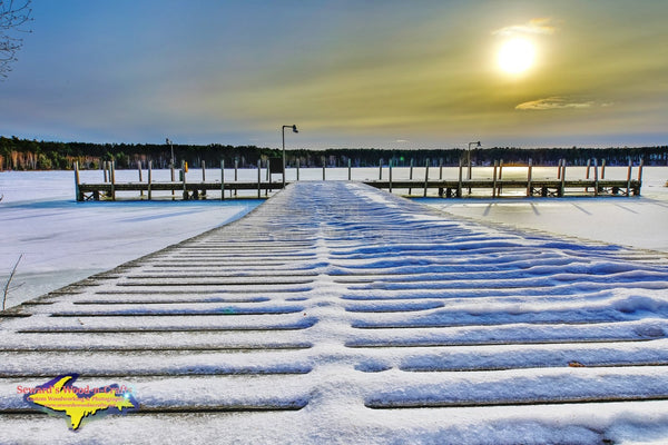 Michigan Landscape Photography Sunset Little Lake State Harbor Newberry Michigan. Photos