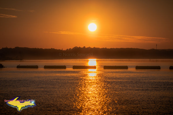 Michigan Landscape Photography Sugar Island Sunrise Over St.Mary's River Sault Michigan