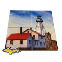 Michigan Coaster Puzzle Whitefish Point Lighthouse Best Coasters Great Prices