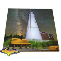 Made In Michigan Coaster Sets Crisp Point Lighthouse Best Priced Photo Tiles