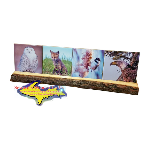 Best Wildlife Drink Coaster Set With Rustic Wood Base Great Price