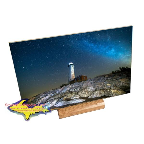 Crisp Point Lighthouse Milky Way Photo Gifts for Yoopers