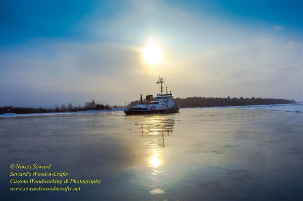 Great Lakes United States Coast Guard Katmai Bay Image Sault Ste. Marie Michigan Photography