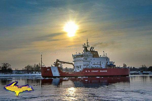 Great Lakes Freighters USCG Mackinaw WLBB-30 Photo United States Coast Guard Images For Sale