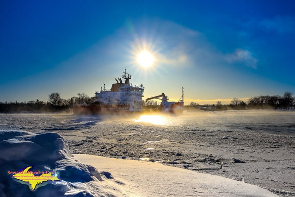 United States Coast Guard Mackinaw (WLBB-30) Photo Great Lakes Shipping Photography