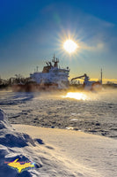 Great Lakes Freighters USCG Mackinaw (WLBB-30) Photo United States Coast Guard Images For Sale