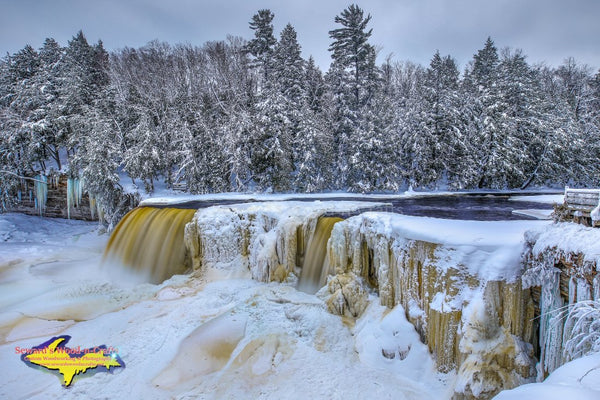 Michigan Landscape Photography Upper Tahquamenon Waterfalls Winter Ice Photos