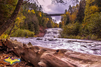Michigan Waterfalls Photography Agate Falls Autumn Colors in Ontonagon County Michigan